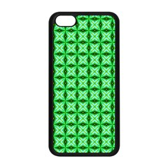 Green Abstract Tile Pattern Apple Iphone 5c Seamless Case (black) by creativemom