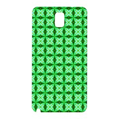 Green Abstract Tile Pattern Samsung Galaxy Note 3 N9005 Hardshell Back Case by creativemom