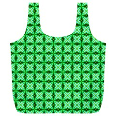 Green Abstract Tile Pattern Reusable Bag (xl) by creativemom