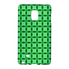 Green Abstract Tile Pattern Samsung Galaxy Note Edge Hardshell Case by creativemom