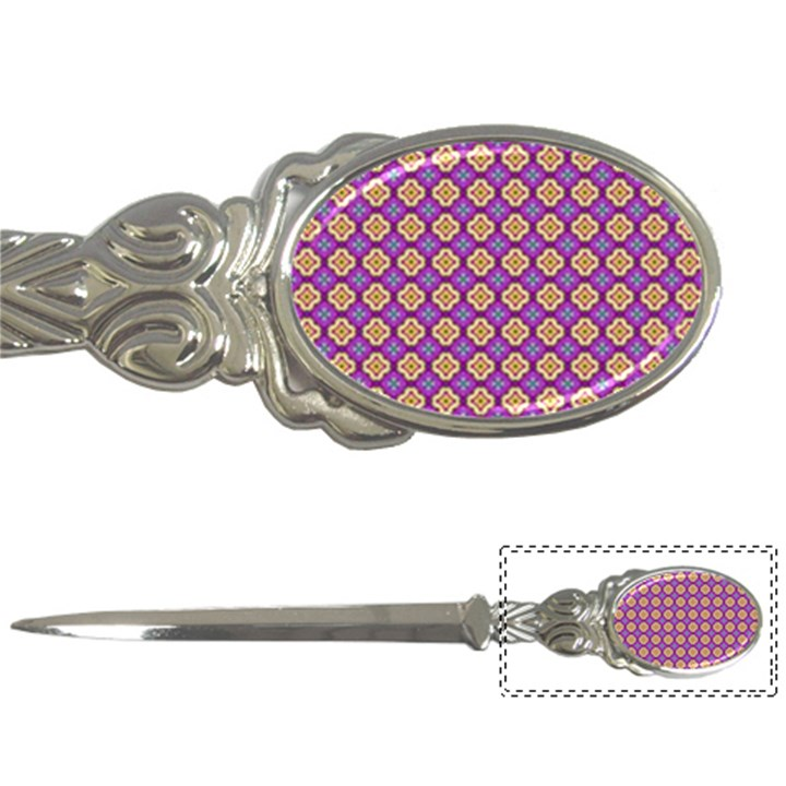 Purple Decorative Quatrefoil Letter Opener