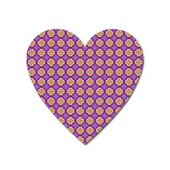Purple Decorative Quatrefoil Magnet (heart) by creativemom