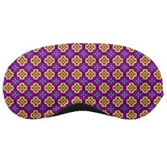 Purple Decorative Quatrefoil Sleeping Mask by creativemom