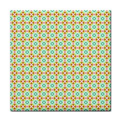 Aqua Mint Pattern Ceramic Tile by creativemom