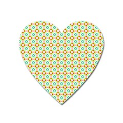 Aqua Mint Pattern Magnet (heart) by creativemom