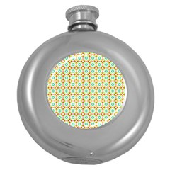 Aqua Mint Pattern Hip Flask (round) by creativemom