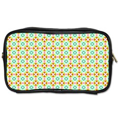 Aqua Mint Pattern Travel Toiletry Bag (one Side) by creativemom