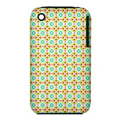 Aqua Mint Pattern Apple Iphone 3g/3gs Hardshell Case (pc+silicone) by creativemom