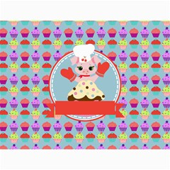 Cupcake With Cute Pig Chef Canvas 18  X 24  (unframed) by creativemom
