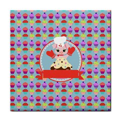 Cupcake With Cute Pig Chef Face Towel by creativemom