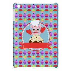 Cupcake With Cute Pig Chef Apple Ipad Mini Hardshell Case by creativemom