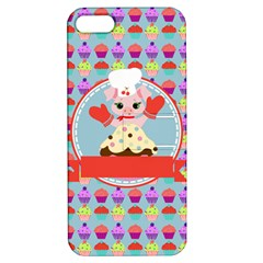 Cupcake With Cute Pig Chef Apple Iphone 5 Hardshell Case With Stand by creativemom