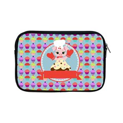 Cupcake With Cute Pig Chef Apple Ipad Mini Zippered Sleeve by creativemom