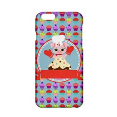 Cupcake With Cute Pig Chef Apple Iphone 6 Hardshell Case by creativemom