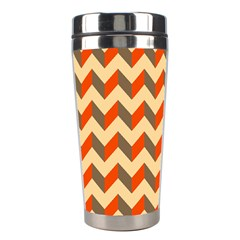 Modern Retro Chevron Patchwork Pattern  Stainless Steel Travel Tumbler by creativemom