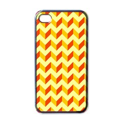 Modern Retro Chevron Patchwork Pattern  Apple Iphone 4 Case (black) by creativemom