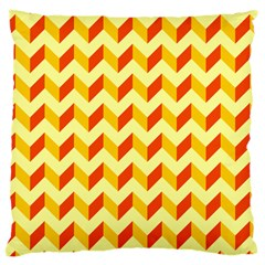 Modern Retro Chevron Patchwork Pattern  Large Cushion Case (two Sided)  by creativemom