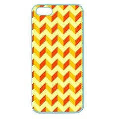 Modern Retro Chevron Patchwork Pattern  Apple Seamless Iphone 5 Case (color) by creativemom