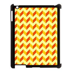 Modern Retro Chevron Patchwork Pattern  Apple Ipad 3/4 Case (black) by creativemom