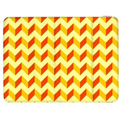 Modern Retro Chevron Patchwork Pattern  Samsung Galaxy Tab 7  P1000 Flip Case by creativemom