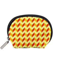 Modern Retro Chevron Patchwork Pattern  Accessory Pouch (small) by creativemom