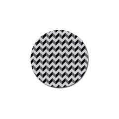 Modern Retro Chevron Patchwork Pattern  Golf Ball Marker 10 Pack by creativemom