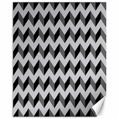 Modern Retro Chevron Patchwork Pattern  Canvas 11  X 14  (unframed) by creativemom