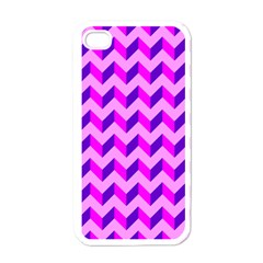 Modern Retro Chevron Patchwork Pattern Apple Iphone 4 Case (white) by creativemom