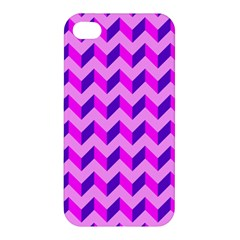 Modern Retro Chevron Patchwork Pattern Apple Iphone 4/4s Hardshell Case by creativemom