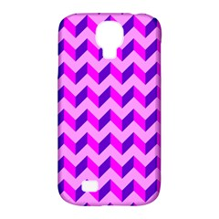 Modern Retro Chevron Patchwork Pattern Samsung Galaxy S4 Classic Hardshell Case (pc+silicone) by creativemom