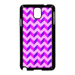 Modern Retro Chevron Patchwork Pattern Samsung Galaxy Note 3 Neo Hardshell Case (black) by creativemom