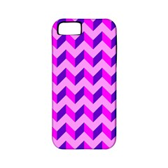 Modern Retro Chevron Patchwork Pattern Apple Iphone 5 Classic Hardshell Case (pc+silicone) by creativemom
