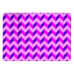 Modern Retro Chevron Patchwork Pattern Samsung Galaxy Tab 10 1  P7500 Flip Case by creativemom