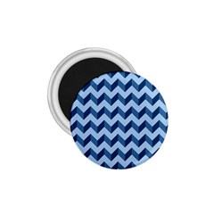 Tiffany Blue Modern Retro Chevron Patchwork Pattern 1 75  Button Magnet by creativemom