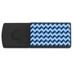 Tiffany Blue Modern Retro Chevron Patchwork Pattern 4gb Usb Flash Drive (rectangle) by creativemom