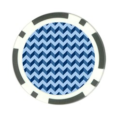 Tiffany Blue Modern Retro Chevron Patchwork Pattern Poker Chip by creativemom