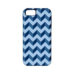 Tiffany Blue Modern Retro Chevron Patchwork Pattern Apple Iphone 5 Classic Hardshell Case (pc+silicone) by creativemom