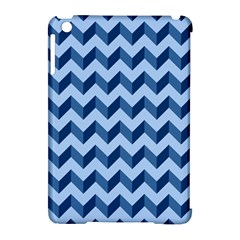 Tiffany Blue Modern Retro Chevron Patchwork Pattern Apple Ipad Mini Hardshell Case (compatible With Smart Cover) by creativemom
