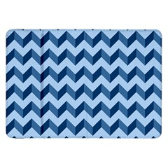 Tiffany Blue Modern Retro Chevron Patchwork Pattern Samsung Galaxy Tab 8 9  P7300 Flip Case by creativemom