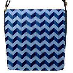 Tiffany Blue Modern Retro Chevron Patchwork Pattern Flap Closure Messenger Bag (small) by creativemom