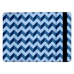 Tiffany Blue Modern Retro Chevron Patchwork Pattern Samsung Galaxy Tab Pro 12 2  Flip Case by creativemom