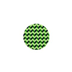 Green Modern Retro Chevron Patchwork Pattern 1  Mini Button Magnet by creativemom