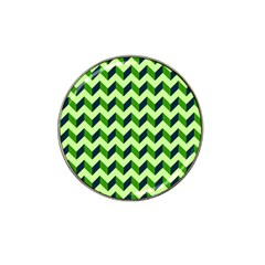 Green Modern Retro Chevron Patchwork Pattern Golf Ball Marker (for Hat Clip) by creativemom