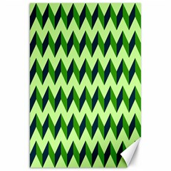 Green Modern Retro Chevron Patchwork Pattern Canvas 20  X 30  (unframed) by creativemom