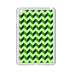 Green Modern Retro Chevron Patchwork Pattern Apple Ipad Mini 2 Case (white) by creativemom