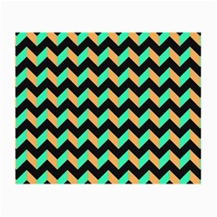 Neon And Black Modern Retro Chevron Patchwork Pattern Glasses Cloth (small, Two Sided) by creativemom