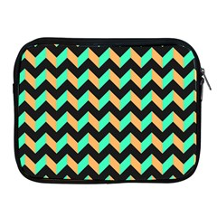 Neon And Black Modern Retro Chevron Patchwork Pattern Apple Ipad Zippered Sleeve by creativemom