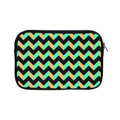 Neon And Black Modern Retro Chevron Patchwork Pattern Apple Ipad Mini Zippered Sleeve by creativemom
