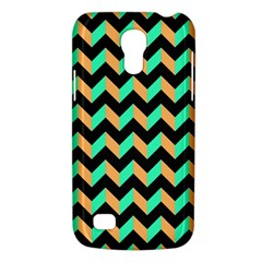 Neon And Black Modern Retro Chevron Patchwork Pattern Samsung Galaxy S4 Mini (gt I9190) Hardshell Case  by creativemom
