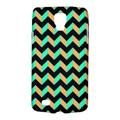 Neon And Black Modern Retro Chevron Patchwork Pattern Samsung Galaxy S4 Active (i9295) Hardshell Case by creativemom